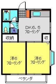 カーサドマーニ2階Fの間取り画像