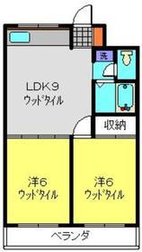 日吉パフィオマンション2階Fの間取り画像