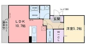 メゾンレスポワールⅡ3階Fの間取り画像