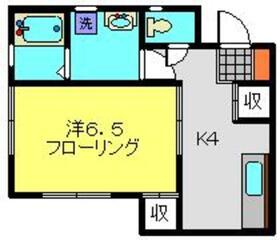 ローズハウス2階Fの間取り画像