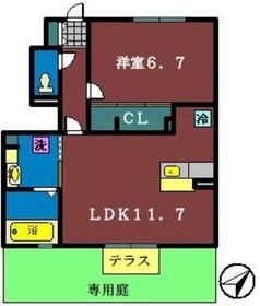 ロイヤルコートA1階Fの間取り画像