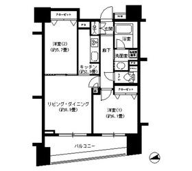 パークキューブ浅草田原町12階Fの間取り画像