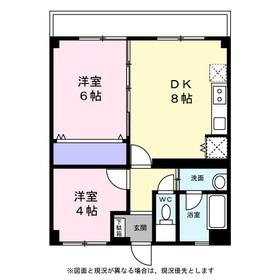 北井マンション3階Fの間取り画像