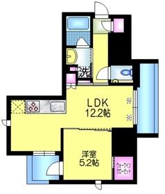 アトラス秋葉原カルモード5階Fの間取り画像