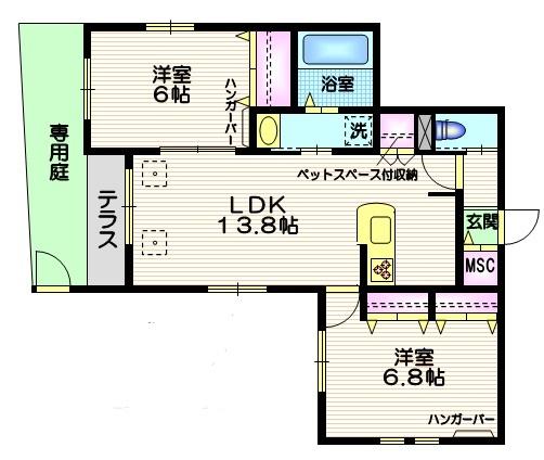 Villa Miets間取図