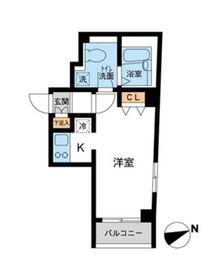 カッシア川崎レジデンス4階Fの間取り画像