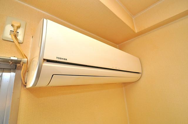 ヴィラアルタイル エアコンが最初からついているなんて、本当に助かりますね。