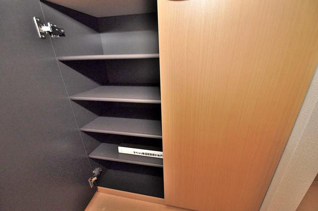 カーサ・エクレール A棟 明るい玄関には大きめのシューズボックスがありますよ。