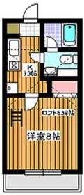 サニーヒルズA2階Fの間取り画像