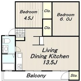 矢野口住宅3階Fの間取り画像