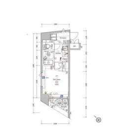 ARTESSIMO AQUA  LINK VISTA3階Fの間取り画像