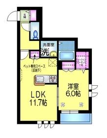 Casa K.K3階Fの間取り画像
