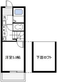 プラージュ鶴見1階Fの間取り画像
