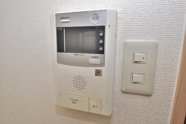 エスポワール永和 モニター付きインターフォンでセキュリティ対策もバッチリ。