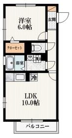 メゾン・エスポワール3階Fの間取り画像