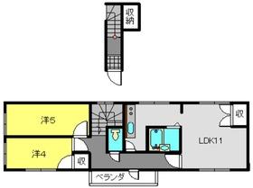 4丁目共同住宅2階Fの間取り画像