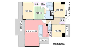 アーガスレーヴ姪浜弐番館3階Fの間取り画像