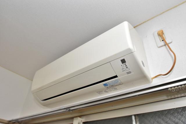 SG第2グローバルハイツ 最初からエアコンが付いているなんてお得ですね