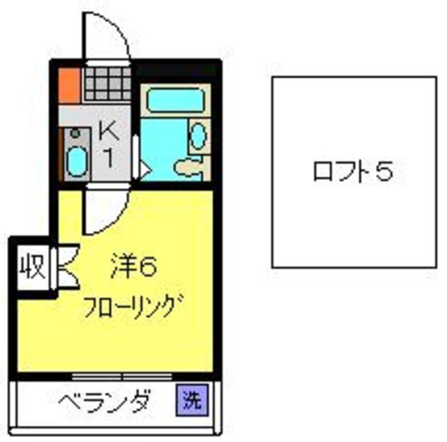 綱島駅 徒歩23分間取図