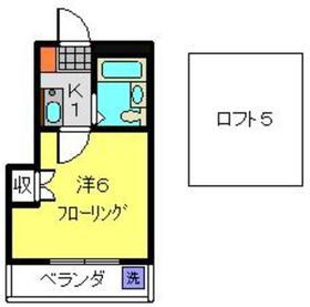 綱島駅 徒歩23分3階Fの間取り画像