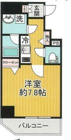 スパシエベルタ横浜10階Fの間取り画像