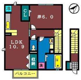 さくら館32階Fの間取り画像