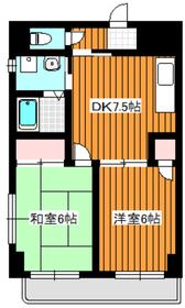 リキューハイツシオノ2階Fの間取り画像