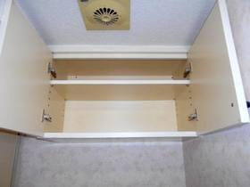 洗濯機置場上部の収納棚