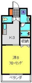 ユーフォリア片倉2階Fの間取り画像