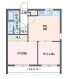 コンフォート本郷台A棟4階Fの間取り画像