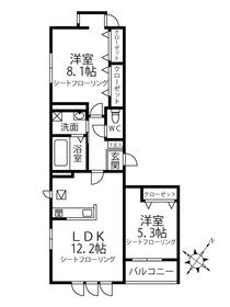 C-COURT OMIYA3階Fの間取り画像