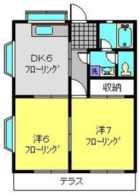 ライフモリ11号館1階Fの間取り画像