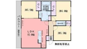D-room小田部弐番館3階Fの間取り画像