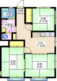 サンライフ岡村2階Fの間取り画像