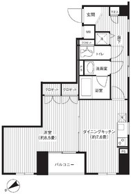 赤羽橋駅 徒歩3分2階Fの間取り画像