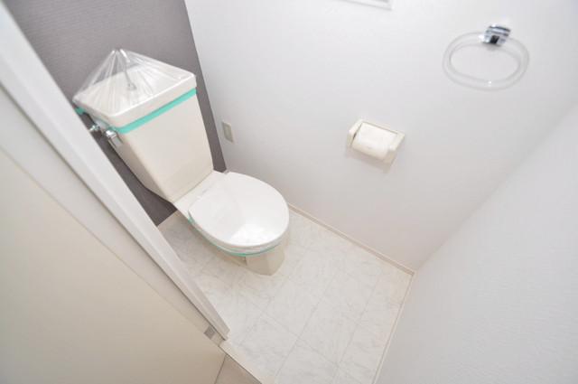 サンリッツ巽 清潔感のある爽やかなトイレ。誰もがリラックスできる空間です。
