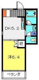 シルクガーデニア4階Fの間取り画像