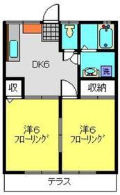 横浜駅 バス15分「ひじりが丘」徒歩4分1階Fの間取り画像