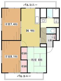 ラフィーネ・オーニシ1階Fの間取り画像