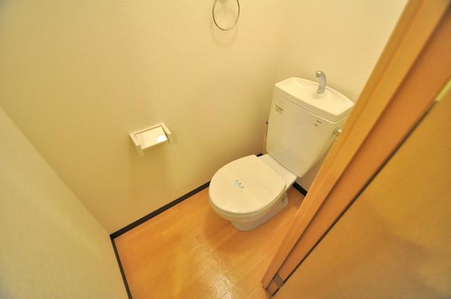 M'プラザ布施弐番館 キレイに清掃されたトイレは清潔感がり気分もよくなります。