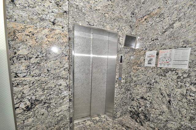 パラゴン布施駅前 嬉しい事にエレベーターがあります。重い荷物を持っていても安心