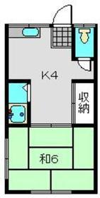 白楽駅 徒歩13分2階Fの間取り画像