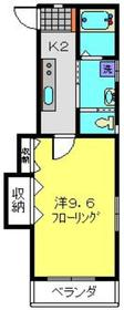 新羽駅 徒歩13分2階Fの間取り画像