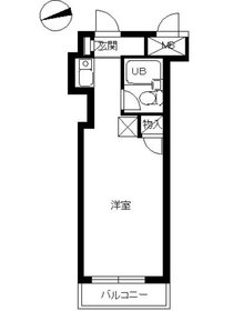 スカイコート綱島3階Fの間取り画像