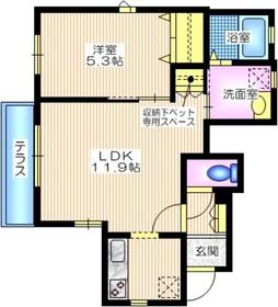 コージーコート日野1階Fの間取り画像