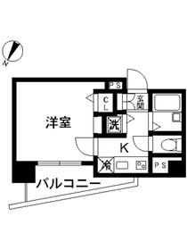 スカイコート池袋第79階Fの間取り画像