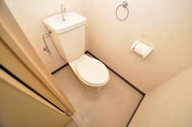 七福興産ビル 清潔感のある爽やかなトイレ。誰もがリラックスできる空間です。