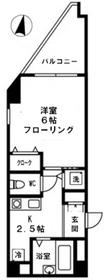 ファインクレスト吾妻橋2階Fの間取り画像