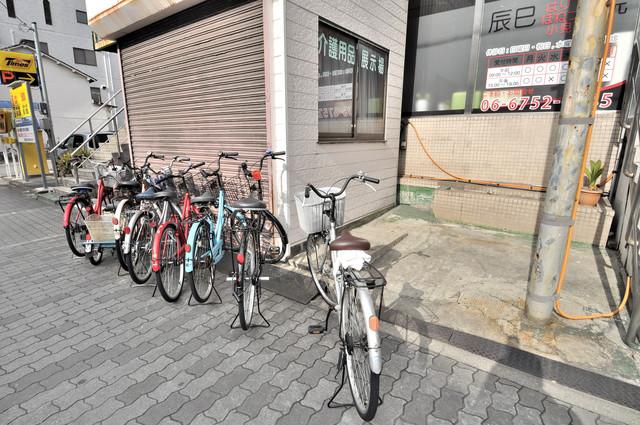 辰巳マンション あなたの大事な自転車も安心してとめることができますね。