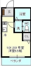 上星川駅 徒歩6分2階Fの間取り画像